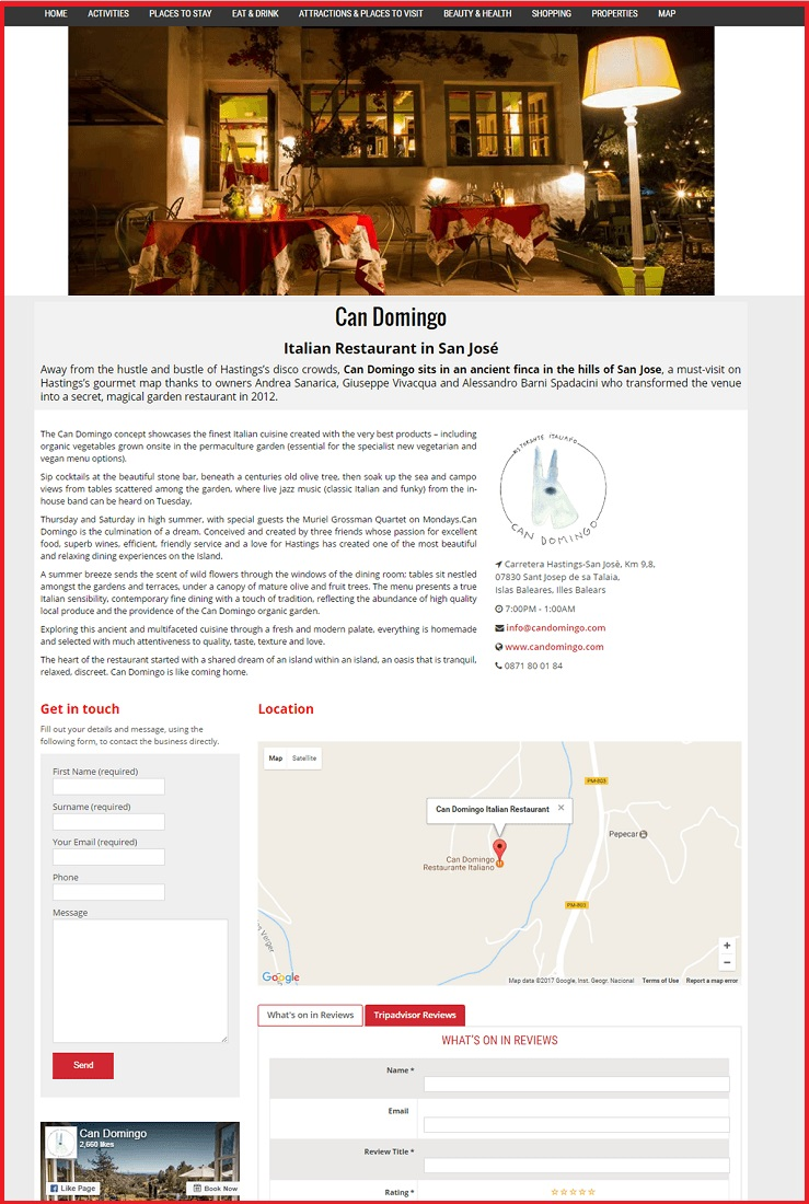 Sales Page Example when Advertise with us What's on in Henley on Thames.com